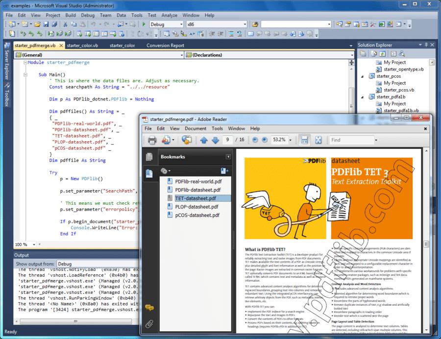 Screenshot von PDFlib Personalization Server (PPS)