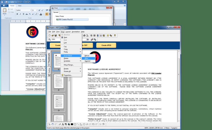 Screenshot of PDF Creator Plus