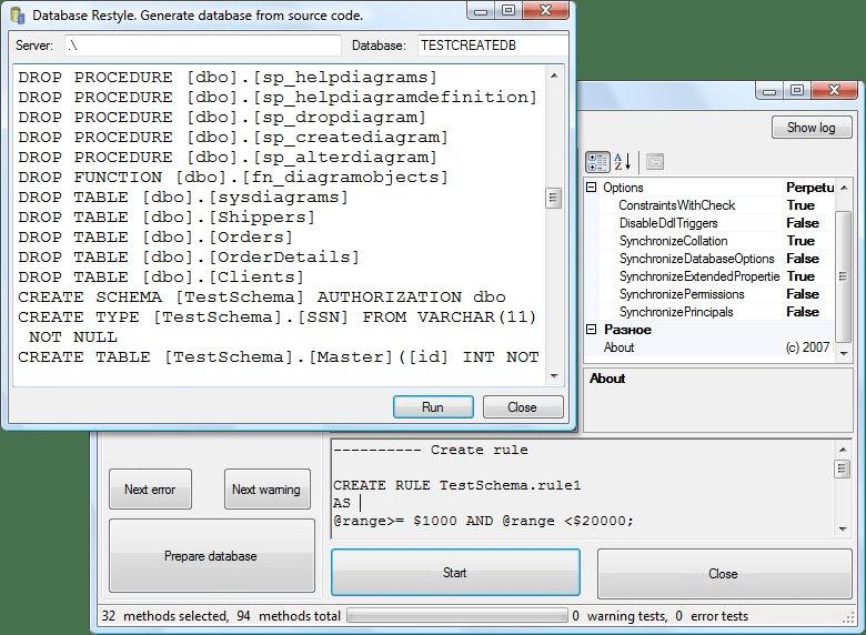 Screenshot von SQL Schema Sync API - Professional