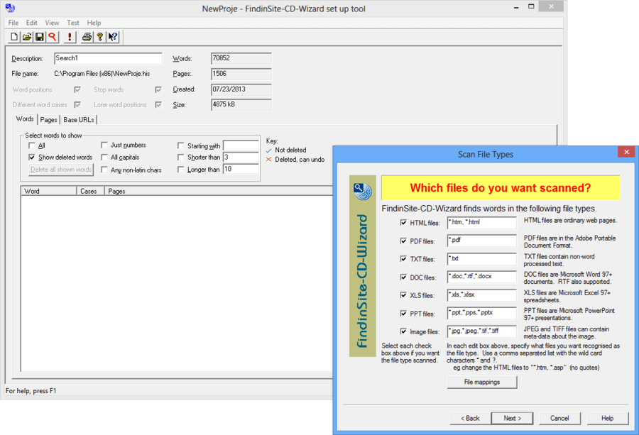 Screenshot of FindinSite-CD