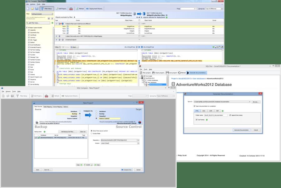 Screenshot of SQL Toolbelt Essentials