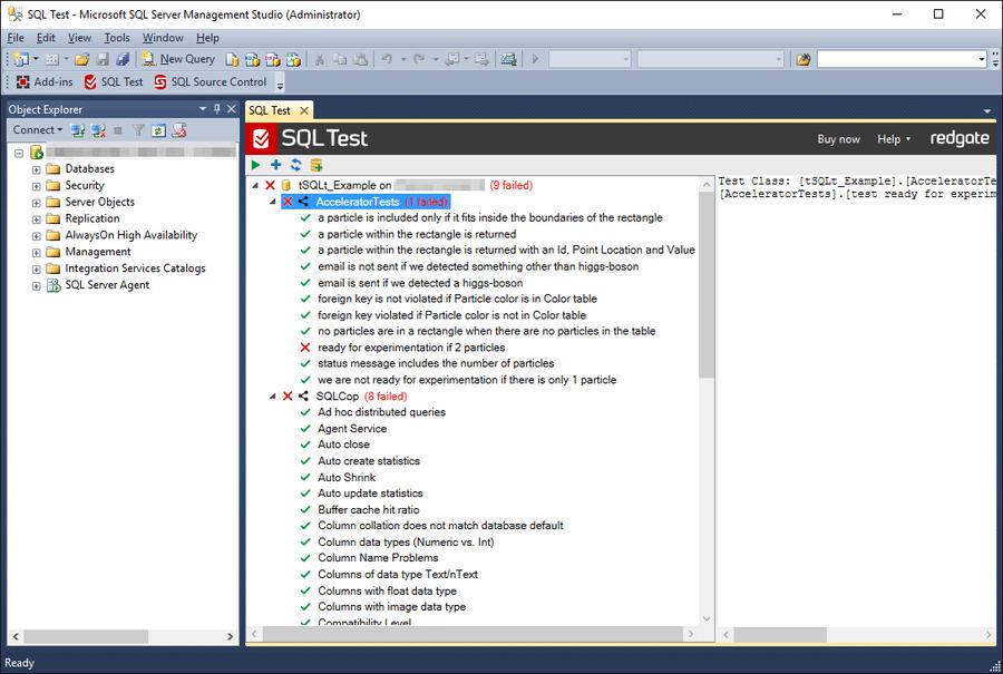 Screenshot of SQL Test