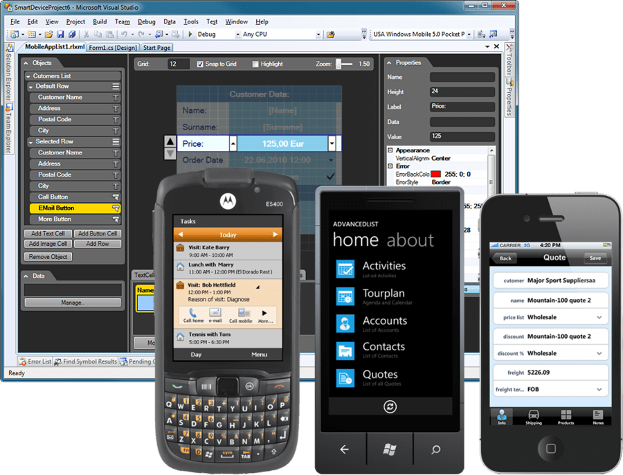 Screenshot of Resco MobileApp Studio Universal Edition
