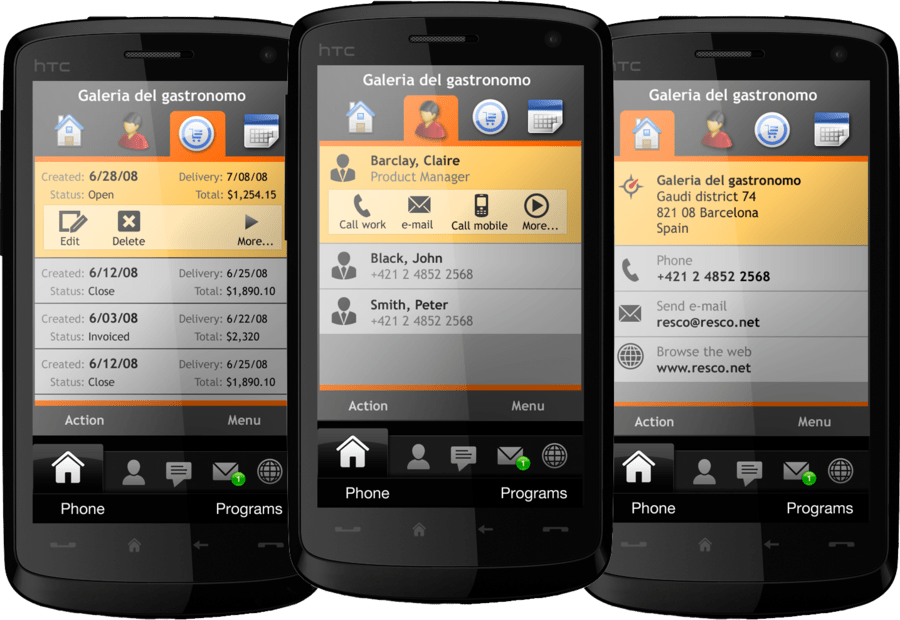 Screenshot of Resco MobileForms Toolkit Windows Mobile Edition
