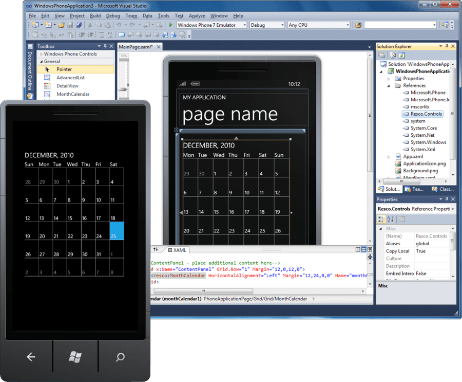 Screenshot of Resco MobileForms Toolkit Windows Phone 7 Edition