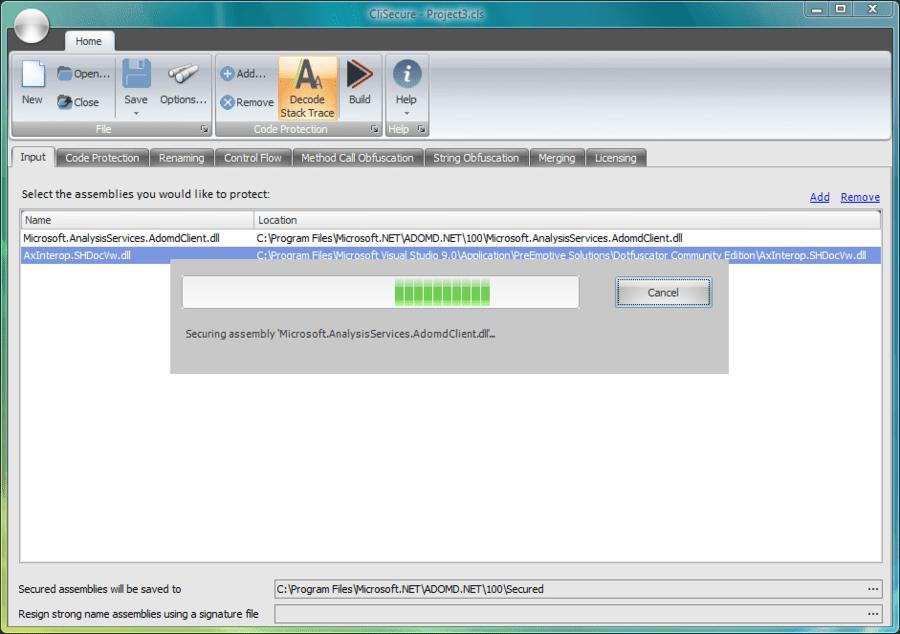 Screenshot of CliSecure