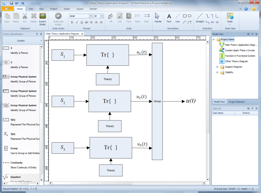 Screenshot of Interactive Project Modeling