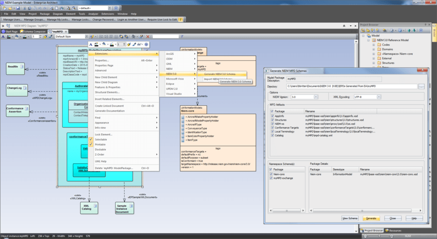 Screenshot of Enterprise Architect Ultimate Edition
