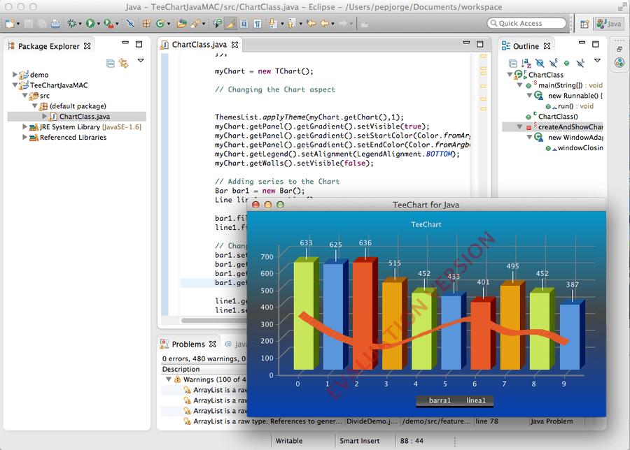 Screenshot of TeeChart for Java