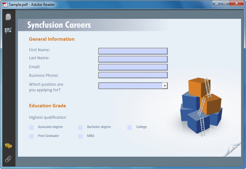 Screenshot of Syncfusion Essential PDF for Windows Forms