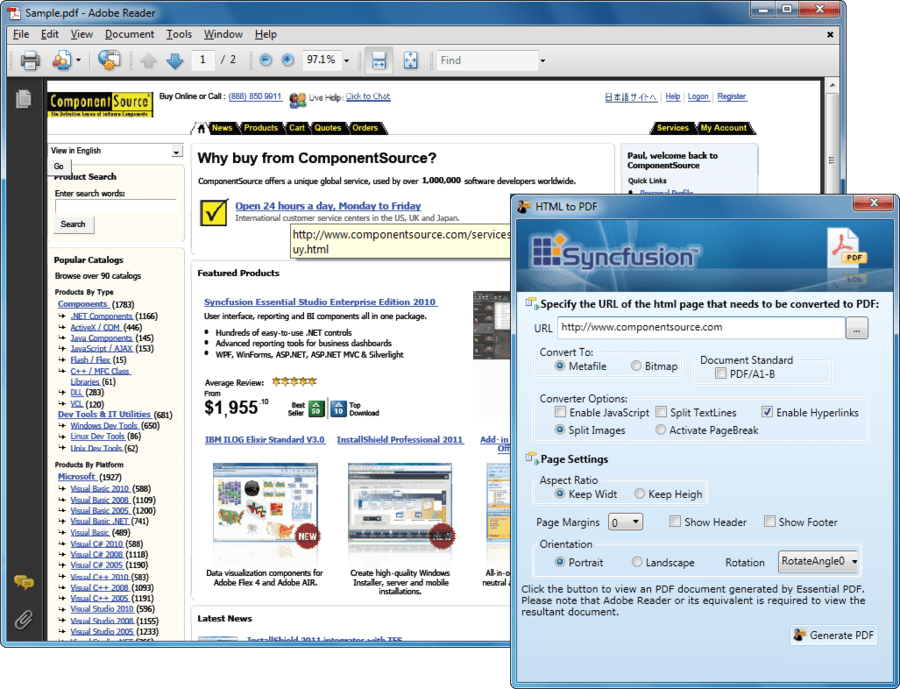 Screenshot of Syncfusion Essential PDF for WPF