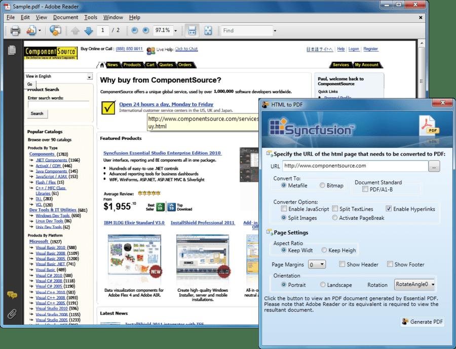 Captura de pantalla de Syncfusion Essential PDF for WPF