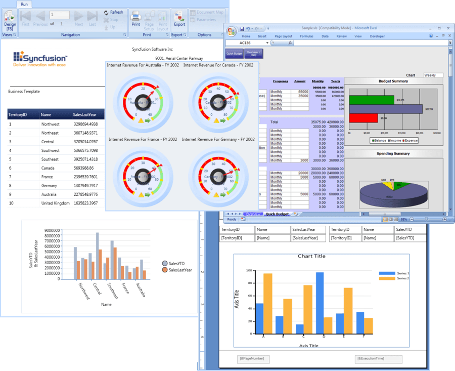 Screenshot of Syncfusion Essential Studio Reporting Edition