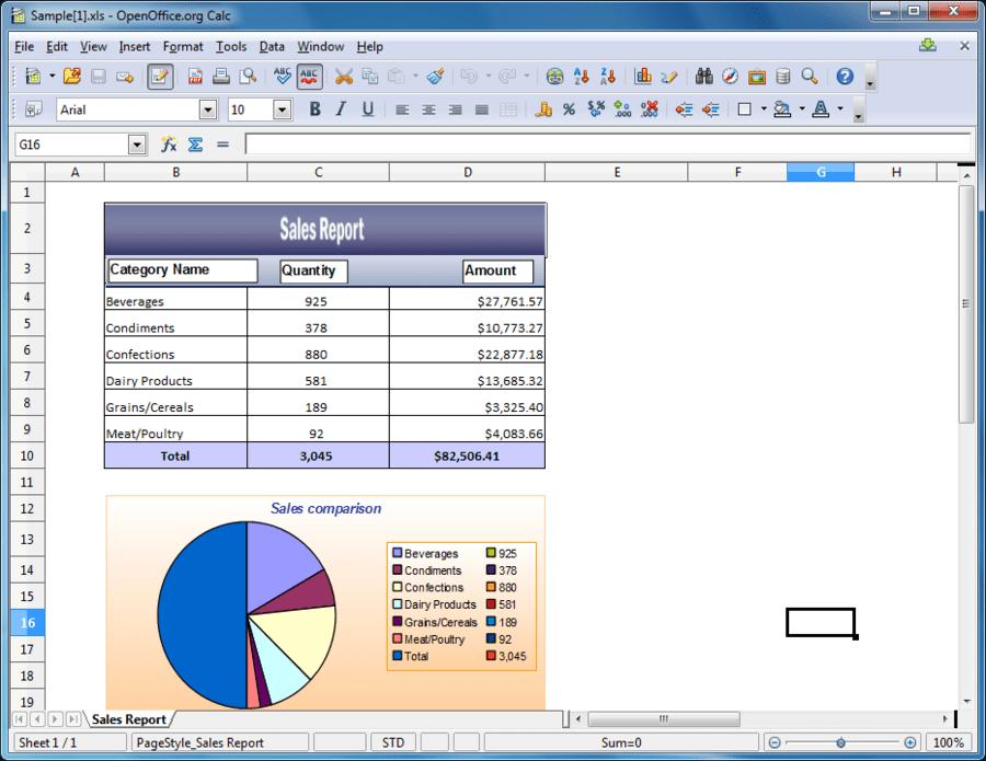 Captura de tela do Syncfusion Essential XlsIO for ASP.NET