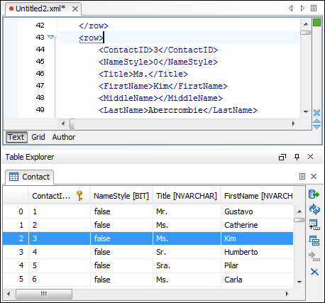 Screenshot of oXygen XML Author Professional