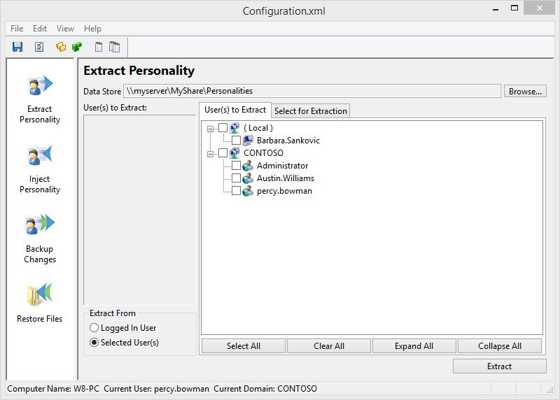 Screenshot of Migration Manager