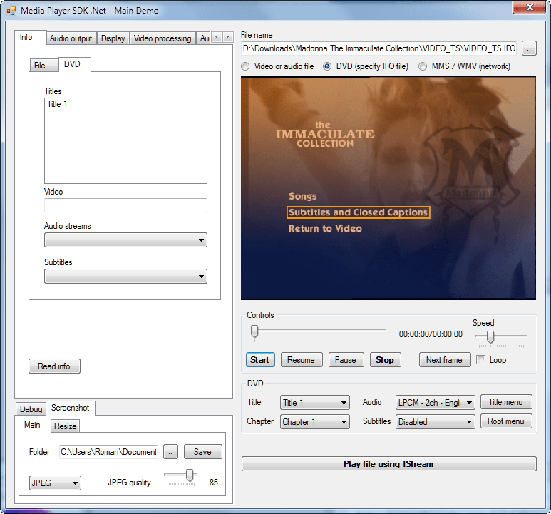 Visioforge media player sdk .net 3.7