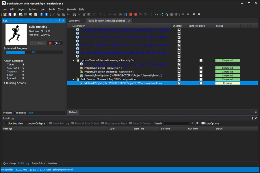 Screenshot of FinalBuilder