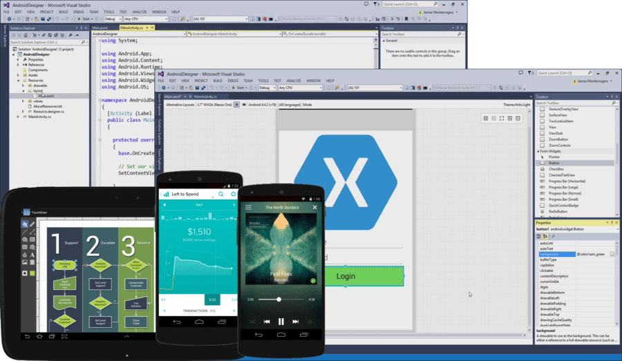 Screenshot of Xamarin.Android