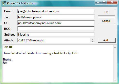 Mail includes smtp pop and imap components to create activex and