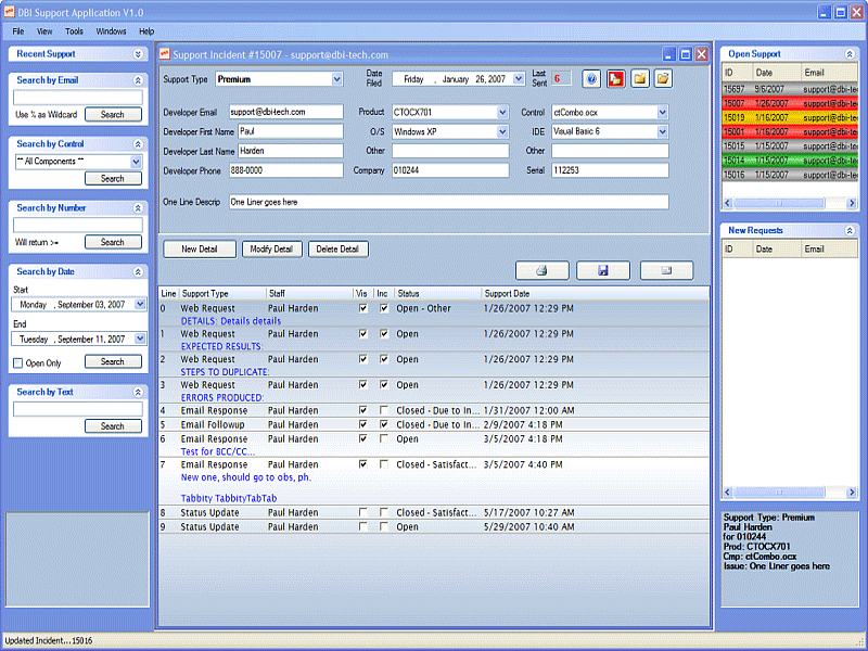 application software that includes an appointment calendar