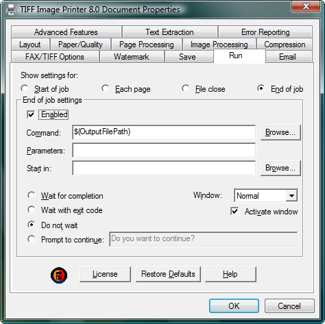 how to add printer from run command