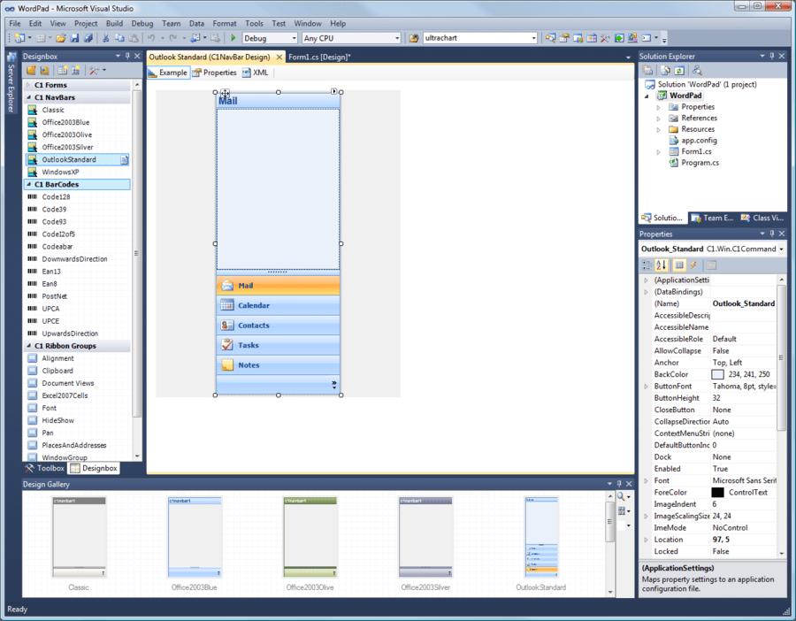 Componentone Studio for Silverlight free download