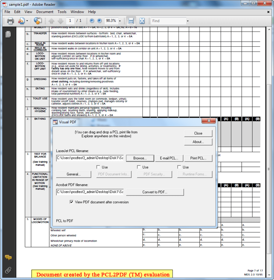 portable document format version