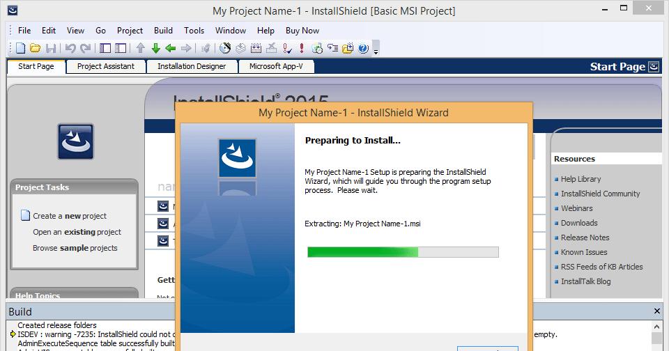 InstallShield 2015 SP1 released