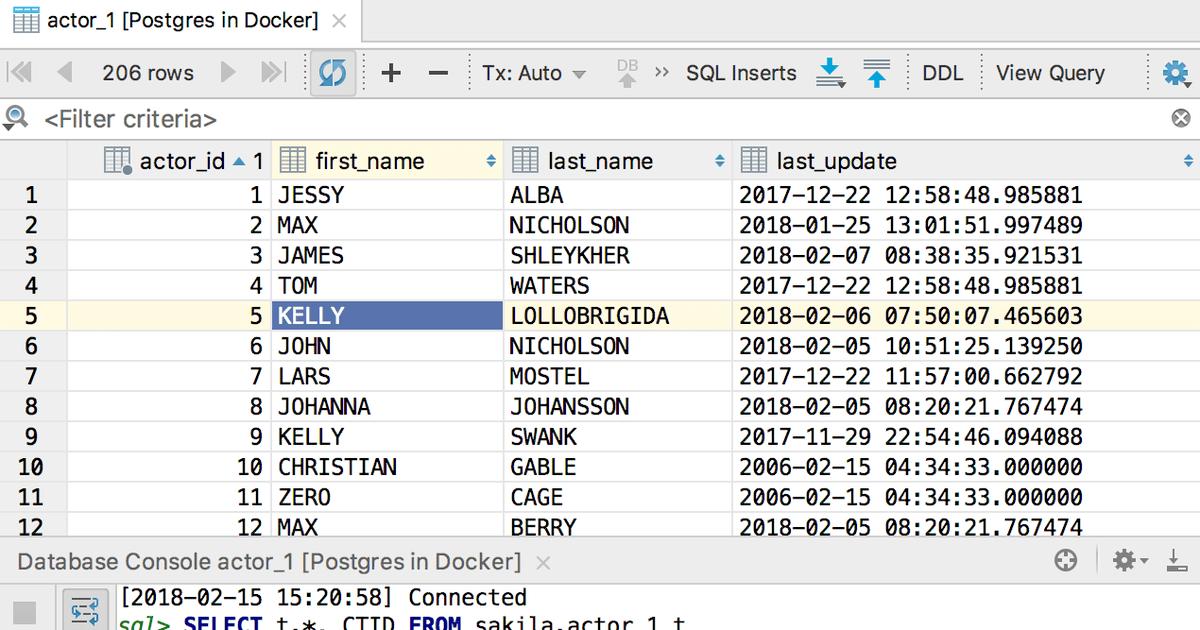 DataGrip 2018 1