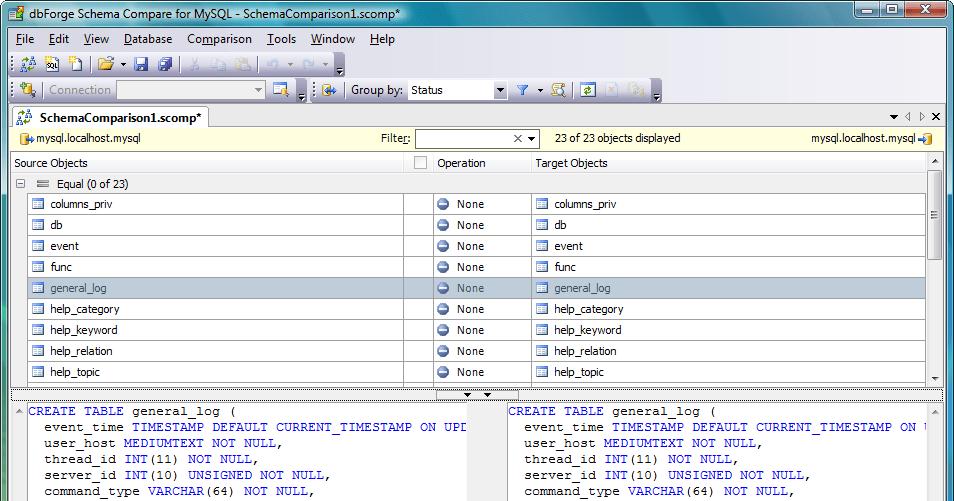 dbForge Schema Compare for MySQL updated