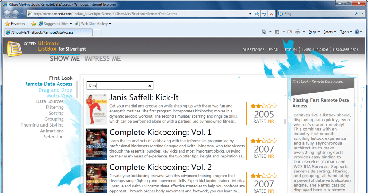 Silverlight ListBox improves scrolling