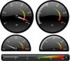 "<strong>Gauges and Dials</strong>: Gauges and dials are fully interactive and designed to be connected to real-time data sources. Developers can use them ""as is"", customize them or easily create new ones with the powerful and open APIs.<br /><br />"