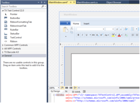TX Text Control .NET for WPF adds Ribbon Tabs