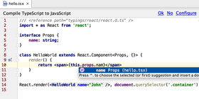 WebStorm 11 adds support for TypeScript 1.5 and 1.6