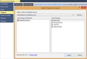 Review Assistant improves Team Foundation Server support