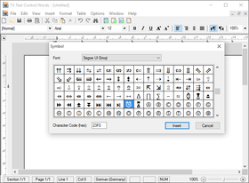 TX Text Control ActiveX X13 adds New Dialog Boxes