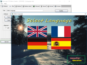 SamLogic CD-Menu Creator improves Language support