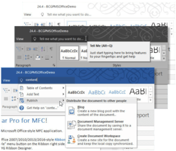 BCGControlBar Library Professional v24.4 adds Ribbon Search
