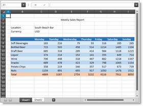 Infragistics Windows Forms 16.1 adds Spreadsheet Control
