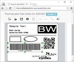ThermalLabel Web Editor for ASP.NET 6.0