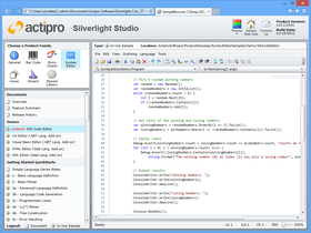 Actipro SyntaxEditor para Silverlight 2016.1 build 0202
