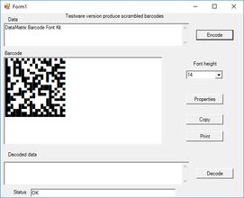 DataMatrix Font Kit V6.8
