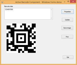 Active 2D Barcode Component - Aztec V7.5