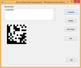 Active 2D Barcode Component - DataMatrix V7.5
