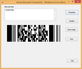 Active 2D Barcode Component - PDF417 V7.5