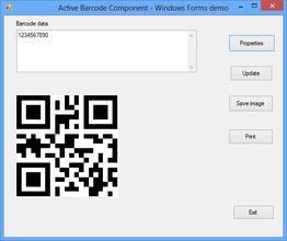 Active 2D Barcode Component - QR Code V7.5