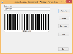 Active Barcode Component - GS1 V7.5