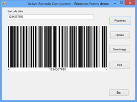Active Barcode Component - Universal V7.5