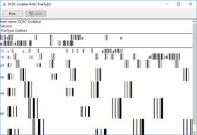 dFont Barcode Fonts for Windows - Codabar V5.6